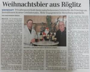 Mitteldeutsche Zeitung 13.12.2009