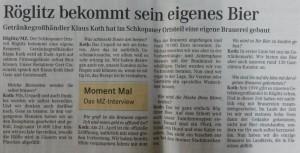 Mitteldeutsche Zeitung 25.03.2007